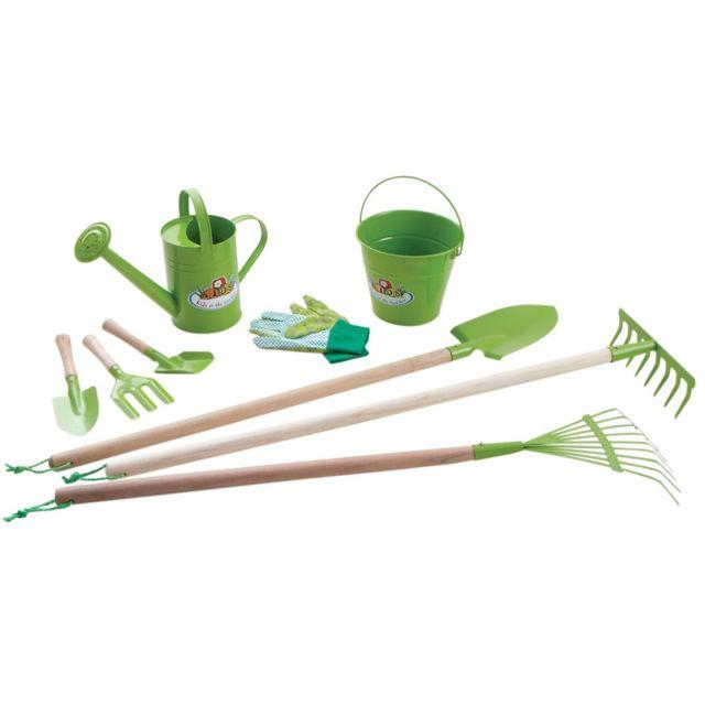 kids in the garden kit 9 outils de jardinage pour enfant pas cher achat vente bricolage et. Black Bedroom Furniture Sets. Home Design Ideas