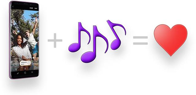 samsung s9 gif en musique