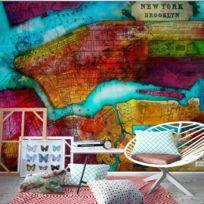 Bimago - Makossa-a1-XXLNEW010502 - Papier peint - Northern portion of new york city - map 350x245