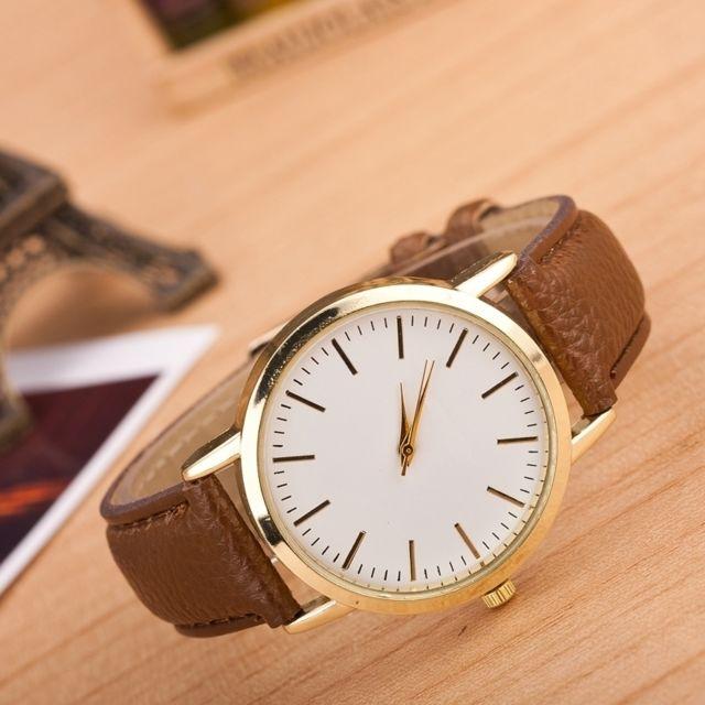 Wewoo - Or et café Paquet de 3 montres de ceinture en marbre couleur ... 08987236001