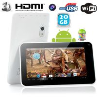 Yonis - Tablette tactile Android 4.2 Jelly Bean 7 pouces Pearl Blanc 20Go
