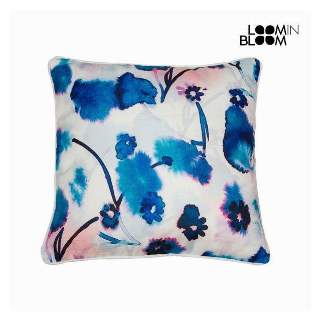 Marque Generique - Coussin fleurs bleu 45 cm X 45 cm - Textile et Linge de Maison Multi - 0cm x 0cm