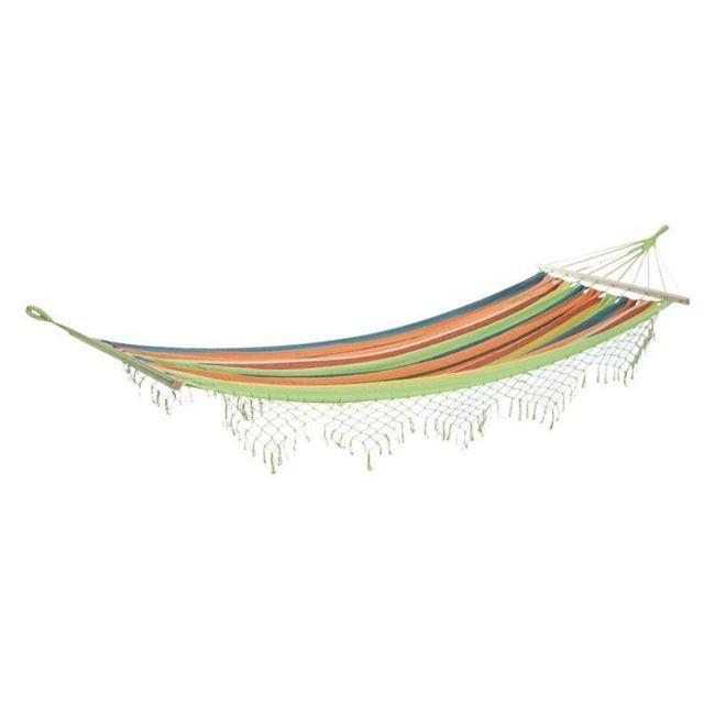 Perfect Home Outils de Camping ext/érieurs Durable Hamac ext/érieur portatif de Toile de Camping Multicolore