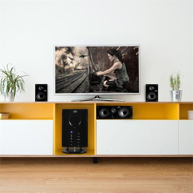 AUNA - Areal 525 BK 5.1 set enceintes dynamiques surround home cinéma 125 Watt RMS