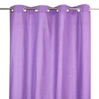 Atmosphera - Rideau 8 oeillets - 140 x 260 cm Violet