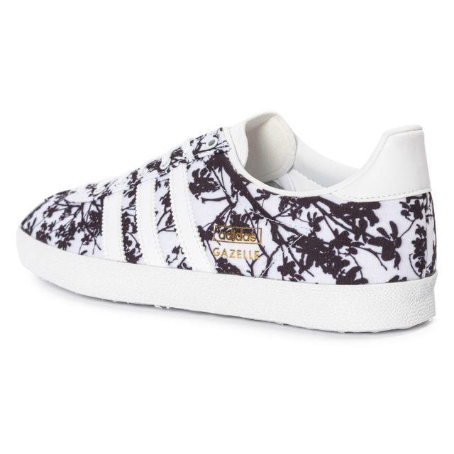 Adidas originals Gazelle Og Floral Blanche Et Noire pas