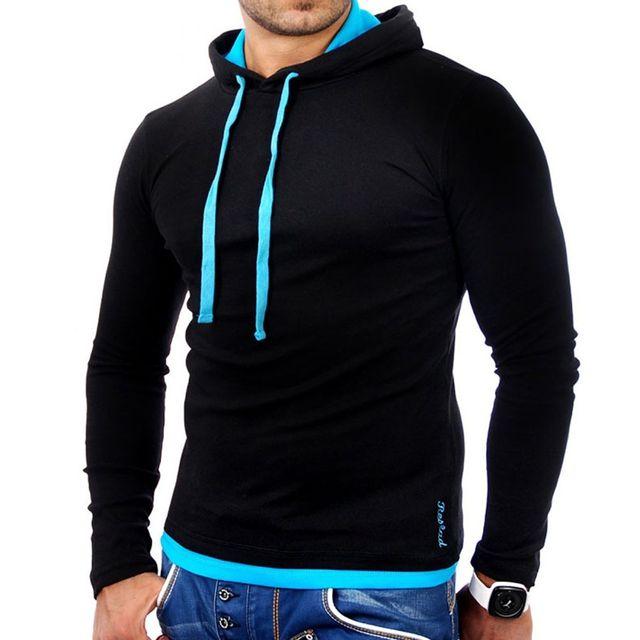 483471d44db Tazzio - Sweat capuche homme Sweat 1003 noir et Turquoise - pas cher ...