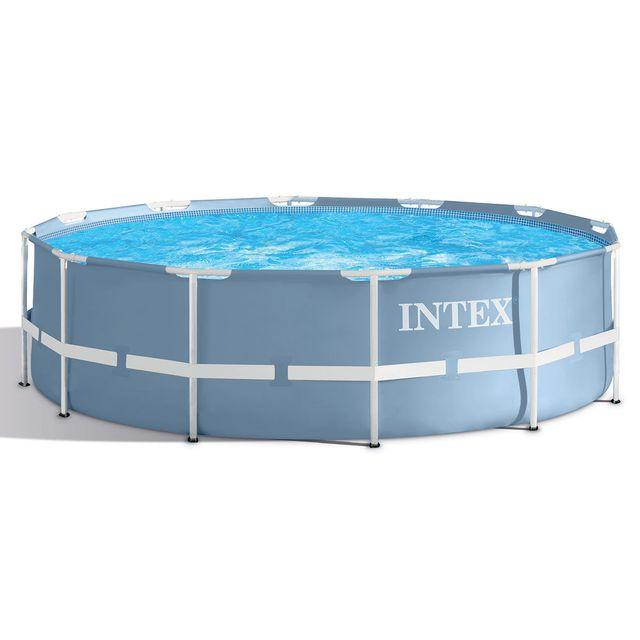 intex piscine tubulaire prism frame ronde 3 66 x 0 99 m. Black Bedroom Furniture Sets. Home Design Ideas