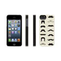 Griffin - Coque motif moustaches noire pour iPhone 5 / 5S