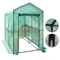 Rocambolesk - Superbe serre en plastique 186 x 120 x 190 cm Neuf