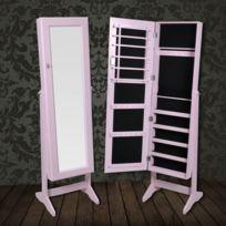 Genial Vidaxl   Armoire à Bijoux Rangement Miroir Meuble Chambre Rose