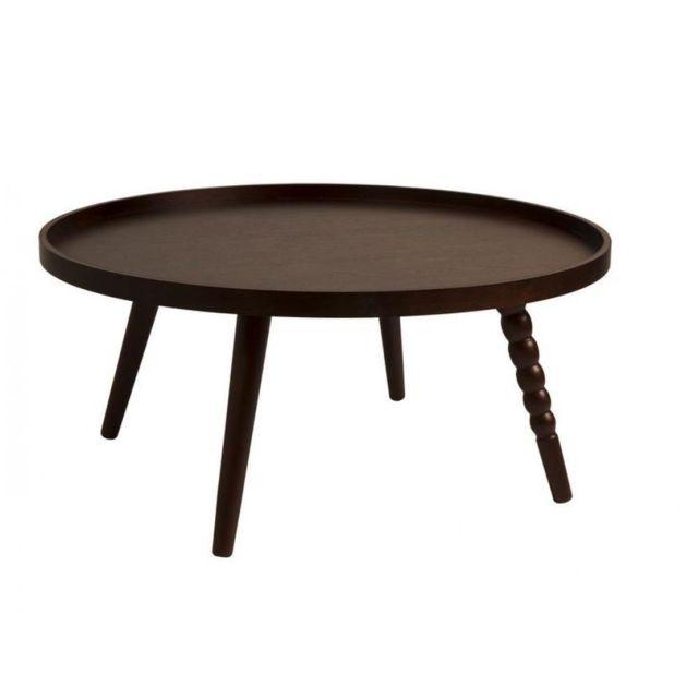Inside 75 Table basse Arabica de DutchBone 78 x 35 cm noyer