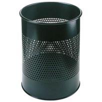 Durable - Corbeille à papier métal déco noir