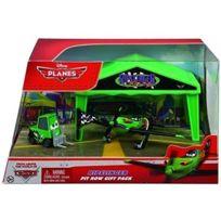 Planes - Disney 2 : Avion Vert et Noir Ripslinger - Garage - Stand de Course Pack 3 N°Y5738 - Cars