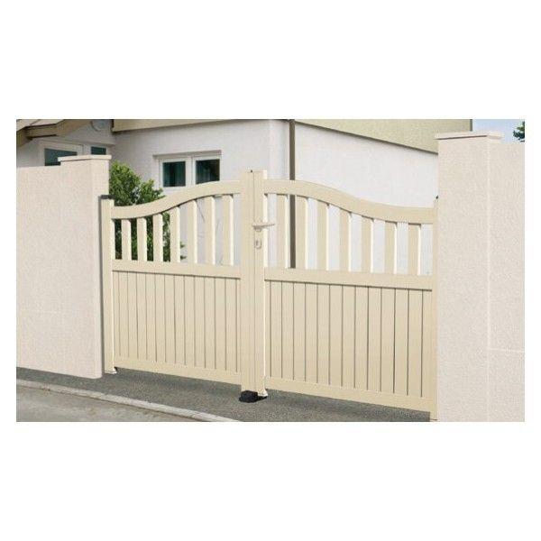 sonnier bois panneaux menuiserie portail aluminium graniers coulissant 2 vantaux assembl s. Black Bedroom Furniture Sets. Home Design Ideas