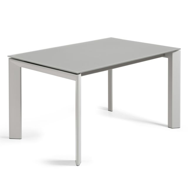 kavehome table extensible axis gris 140 200 x90 cm
