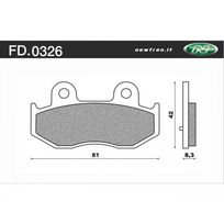Newfren - Plaquette de Frein Fd0326 Be Organique Suzuki Burgman An400 Su