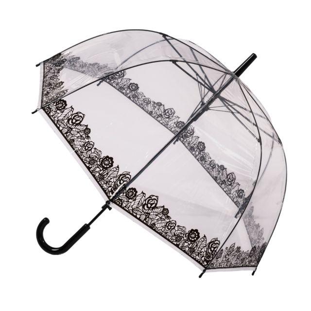 Acheter Des Roses Noires blooming brollies - parapluie cloche transparent roses noires - pas