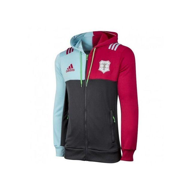 Adidas originals Sweat zippé Harlequins Rugby Gris Garçon