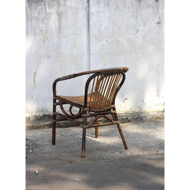 Tousmesmeubles Chaise dossier Bas - Manuella - L 61 x l 60 x H 79