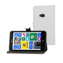 Muvit - Etui Slim Folio blanc avec rabat Nokia Lumia 625 Musli0377