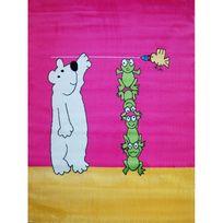 Mondialtapis - Tapis bébé Balou l'ourson Mondial Tapis - Couleur - Rose, Taille - 130 x 170 cm