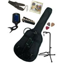 Msa - Pack 7 Accessoires Guitare Classique 4/4 Housse, accordeur
