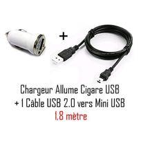 Cabling - Chargeur de voiture avec câble Usb/mini Usb