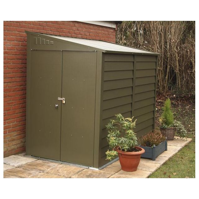 trimetals abri moto en m tal vert 4 9 m2 mcg950 pas cher achat vente abris en bois. Black Bedroom Furniture Sets. Home Design Ideas