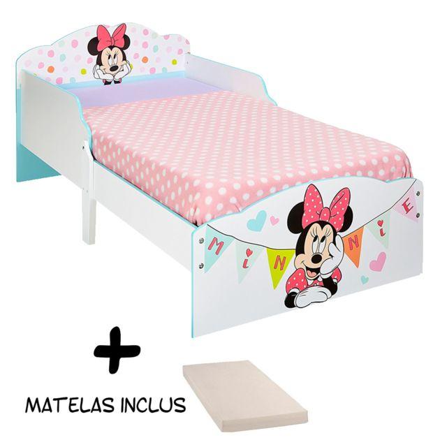 Bebe Gavroche Lit enfant Banderole Minnie Mouse Disney + Matelas
