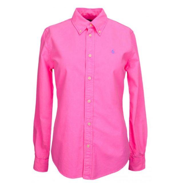 Ralph Lauren - Chemise Harper rose fluo pour femme - pas cher Achat   Vente  Chemise femme - RueDuCommerce 7a1d6b1b92a