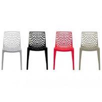 Vente-unique - Lot de 2 chaises empilables Diademe - Polypropylène - Gris anthracite