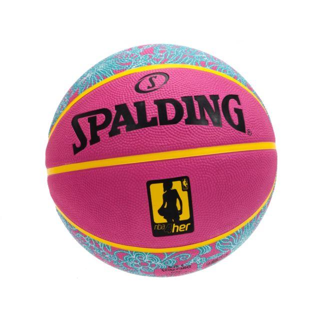 342f7d52afd8a Spalding - Ballon de basket Nba 4her t6 rose/ciel Rose 40136 - pas cher  Achat / Vente Ballons basket - RueDuCommerce
