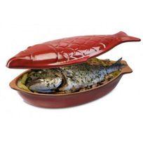 PIRAL - cocotte à poisson en terre cuite 33cm rouge - cocotte poisson 33 rg