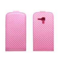 Stax - Etui Portefeuille Rabat Carbonne Rose pour Samsung Galaxy Trend S7560 / S Duos S7562