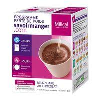 Milical - Lcd Milk-Shake au Chocolat 4 sachets repas