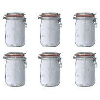 Le Parfait - lot de 6 bocaux en verre 1l - 900507