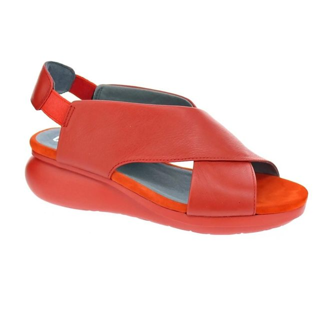 8cdeddf4f0cac1 Camper - Chaussures Femme Sandales modele Balloon Rouge - pas cher ...