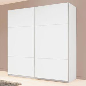 Alin a karma lot de 2 portes coulissantes blanches 200cm pas cher achat vente - Alinea armoire porte coulissante ...