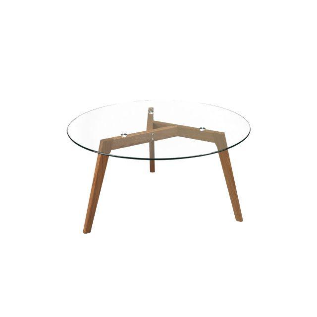 table ronde verre - achat table ronde verre pas cher - rue du commerce