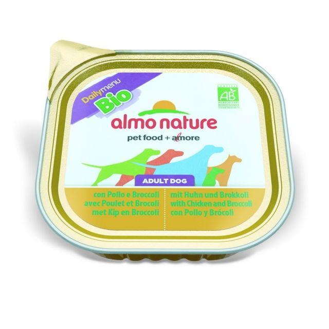 Almo Nature Chien Adult Bio Organic Maintenance Poulet et Brocoli - Barquette