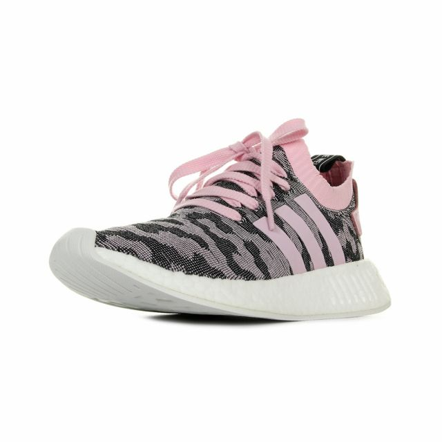 Adidas Adidas Adidas Nmd R2 PrimeKnit W Rose, Noir, Blanc pas cher Achat d8cfef
