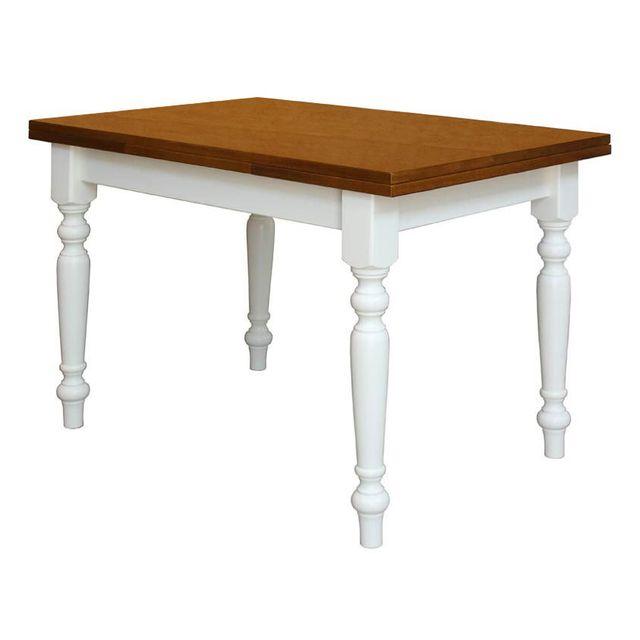Artigiani Veneti Riuniti Table à manger bicolore extensible 120-200 cm