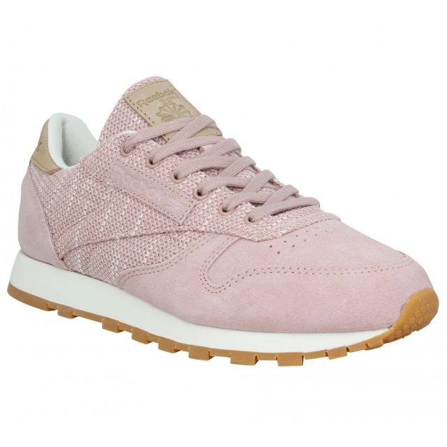 Reebok Classic Leather velours toile Femme 37,5 Rose pas