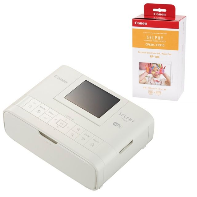 Canon Imprimante Selphy Cp1300 Blanc Garantie 2 Ans + consommable Rp108