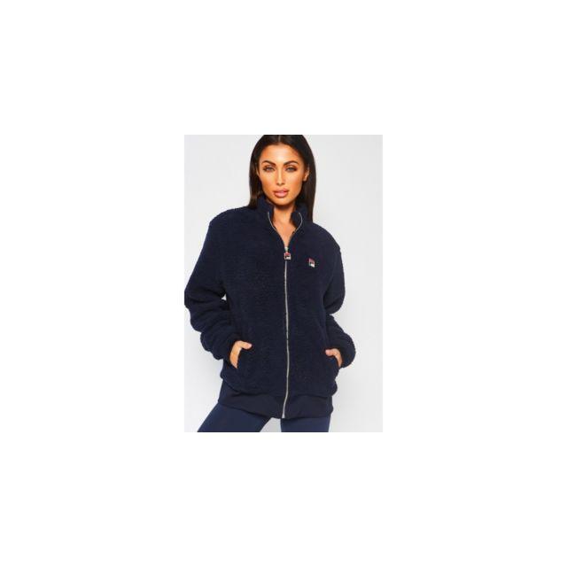 nouveau style 0d791 179e0 Fila - veste en pilou bleu - pas cher Achat / Vente Manteau ...