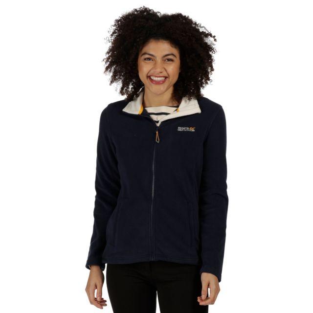 Nouveaux produits 40b78 bf3a0 Great Outdoors Clemance Ii - Veste polaire - Femme FR 38, Bleu marine/ Ours  polaire Utrg941