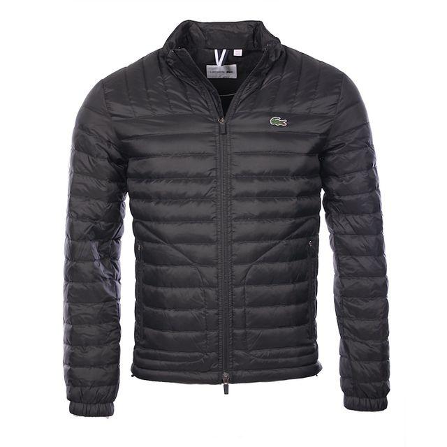37246f7629 Lacoste - Homme - Doudoune veste matelassée en duvet noire Bh9642 - pas cher  Achat / Vente Blouson homme - RueDuCommerce