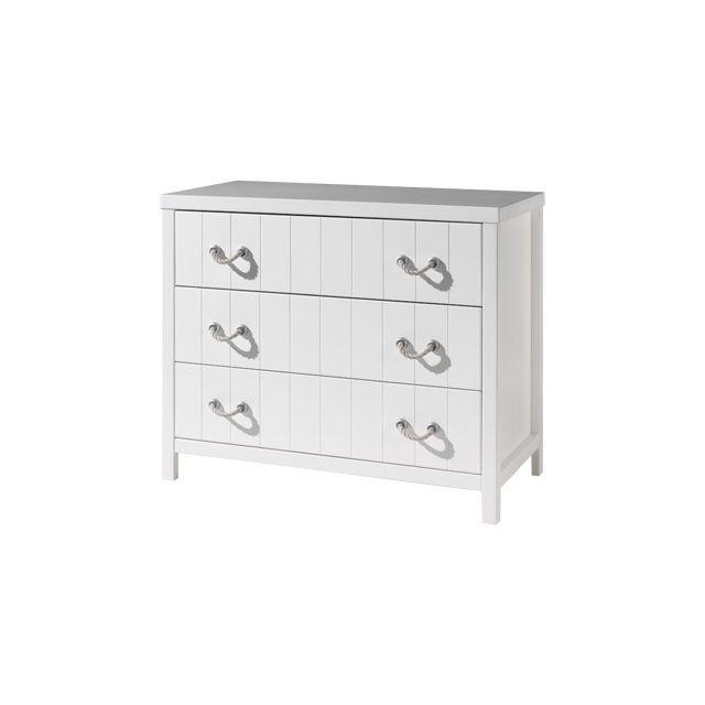 Commode 3 tiroirs110 x 57 x 90,3 cm coloris blanc