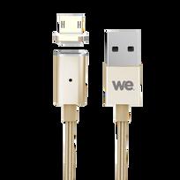 WE - Câble Micro USB magnétique - 1,2m - Or